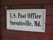 Surratt post office sign