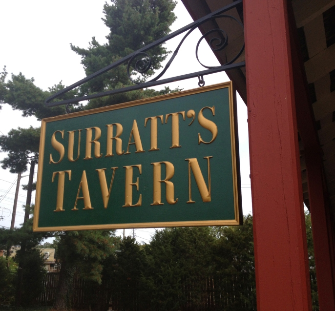 Surratt's Tavern sign