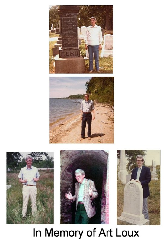 A collage of Art Loux created by his friend and fellow researcher, Betty Ownsbey.