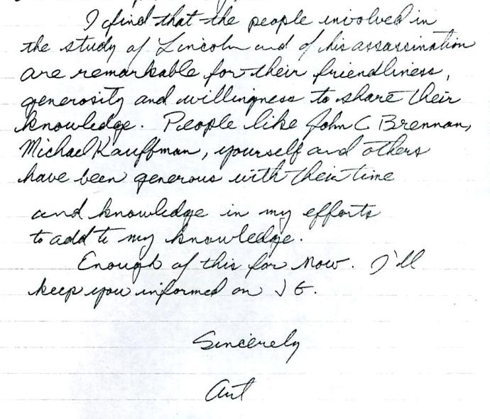 Art's letter 1977