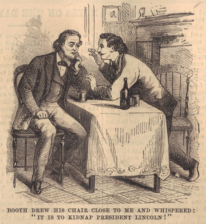 Booth Telling Surratt of his Plan