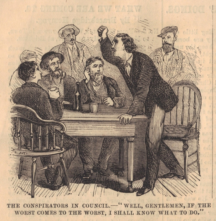 Surratt Booth Meting of Conspirators