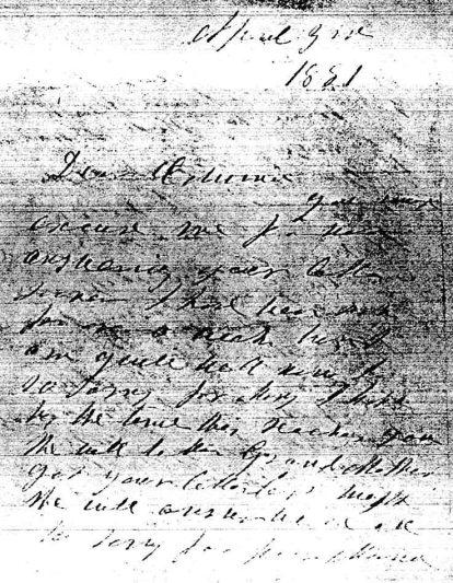 Rosalie letter 1881 1