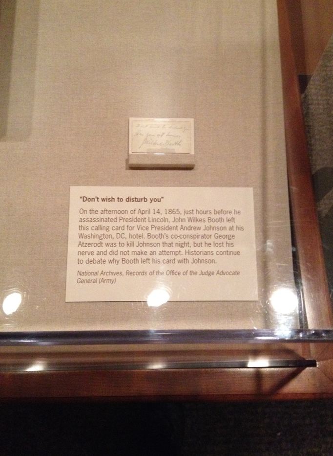 Booth's note display