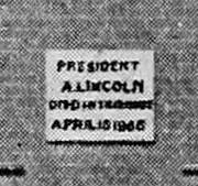 Buckingham Marble Petersen tablet 1894