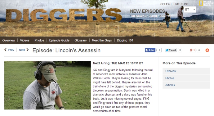 Lincoln's Assassin Diggers