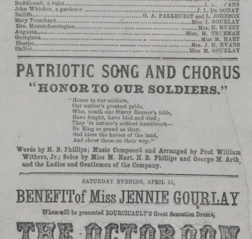 Honor to Our Soldiers Playbill excerpt