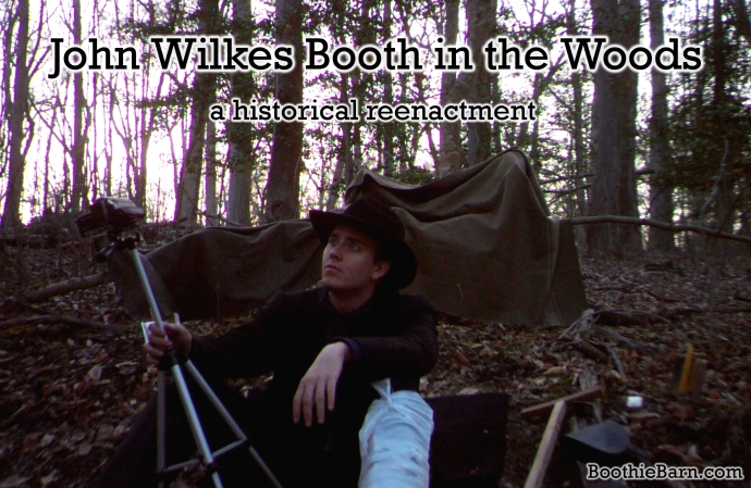 John Wilkes Booth in the Woods