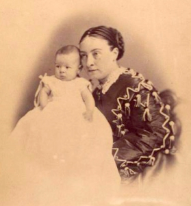 Agnes Booth with one of her sons NYPL