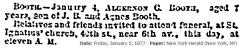 Algernon Booth Obit