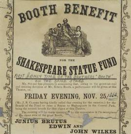Booth Benefit for Shakespeare Statue Playbill NYPL