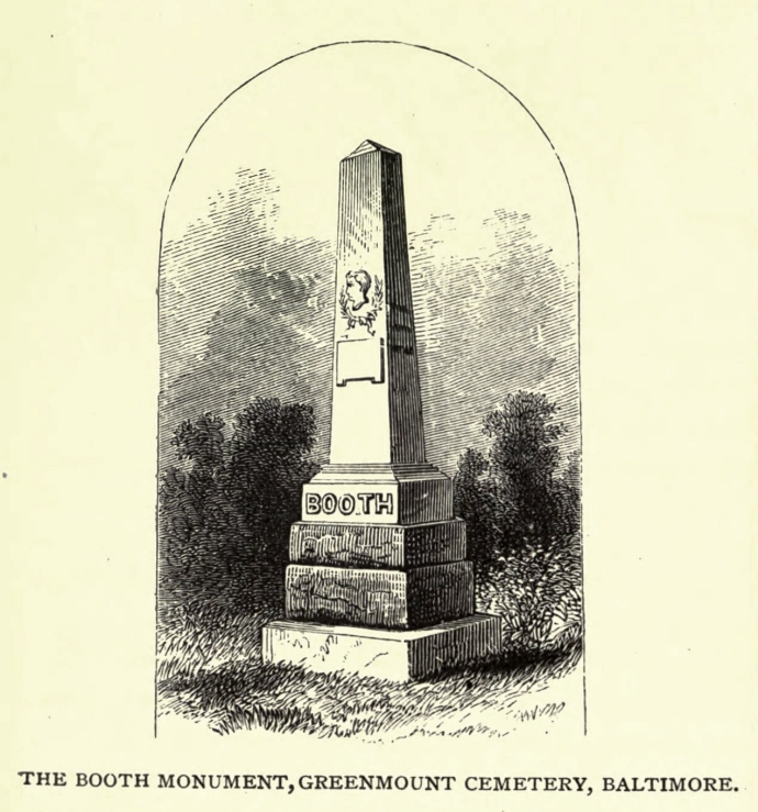 Booth grave Scribner's April 1875