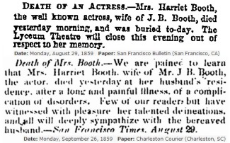 Harriet Mace's death