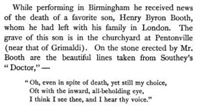 Henry Byron's gave inscription