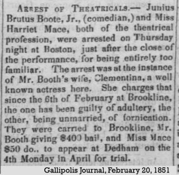 JBB and Harriet Mace Charged by Clementina 1851