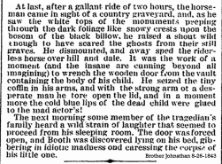 JBB and the death of his child Brother Johnathan 8-26-1843