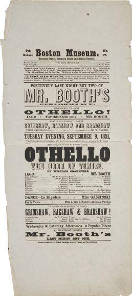 JBB Playbill 9-9-1851