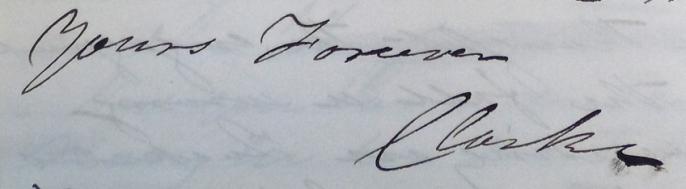 John Sleeper Clarke Signature NYPL
