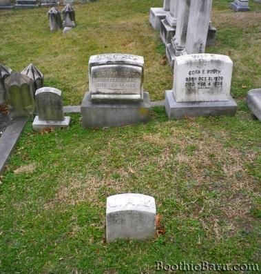 Joseph Booth grave area in Greenmount plot
