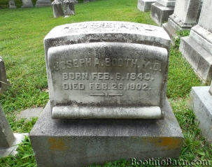 Joseph Booth's grave in Green Mount