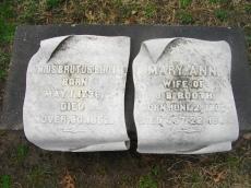 Junius and Mary Ann Headstones
