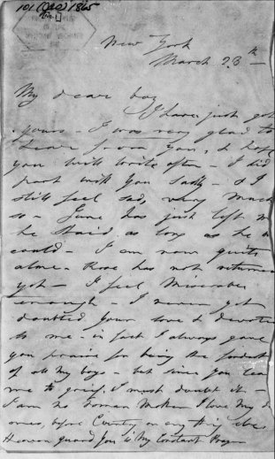 March 1865 letter to JWB from Mary Ann Holmes Booth