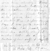 Mary Ann Booth writes about Rosalie 3-3-1881 ALPLM