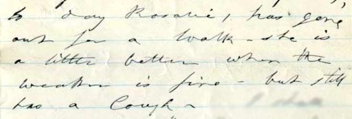 Mary Ann Booth writes about Rosalie 4-21-1881 ALPLM