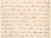 Mary Ann Booth writes about Rosalie's health 12-25-1880 ALPLM