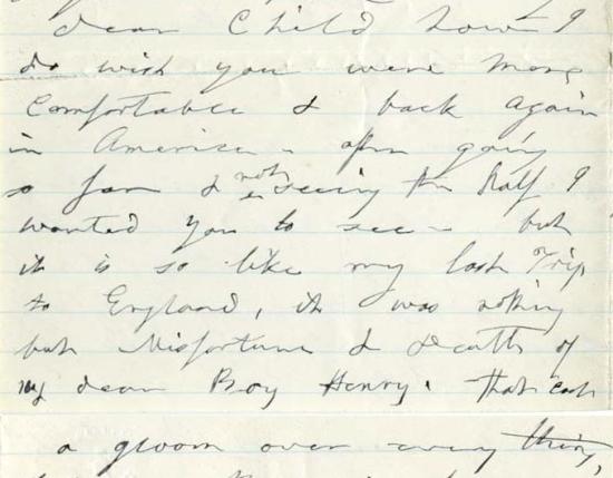 Mary Ann to Edwina in London regarding Henry Byron ALPLM