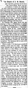 Obituary for Junius Brutus Booth, Jr 9-22-1883 NY Mirror