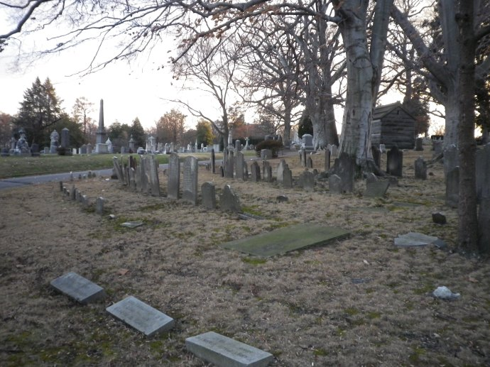 The assumed resting place of Lewis Powell's body, Section K, Lot 23 in D.C.'s Rock Creek Cemetery