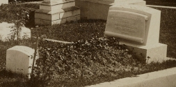 Rosalie Booth's grave about 1889