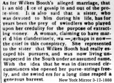 Rosalie Ripped Off - New York Mirror 3-17-1888