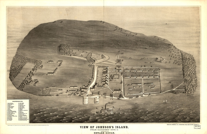 Johnson's Island 1865 LOC