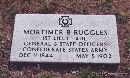 Mortimer Ruggles' grave