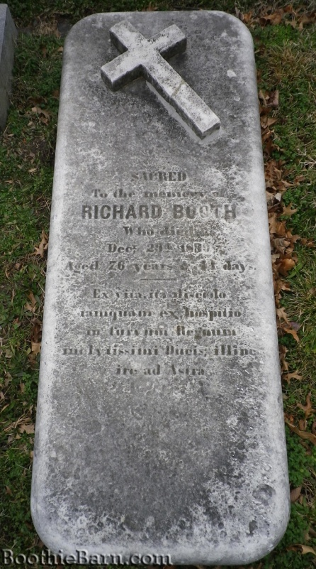 Richard Booth's grave