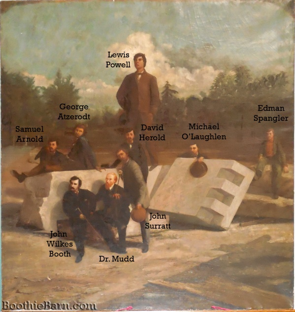 The Conspirators in the Lew Wallace Study Labeled