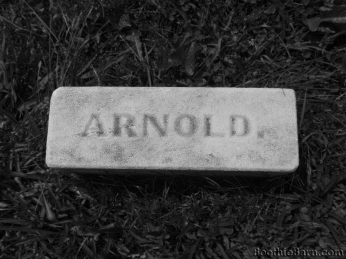 Arnold B&W Grave