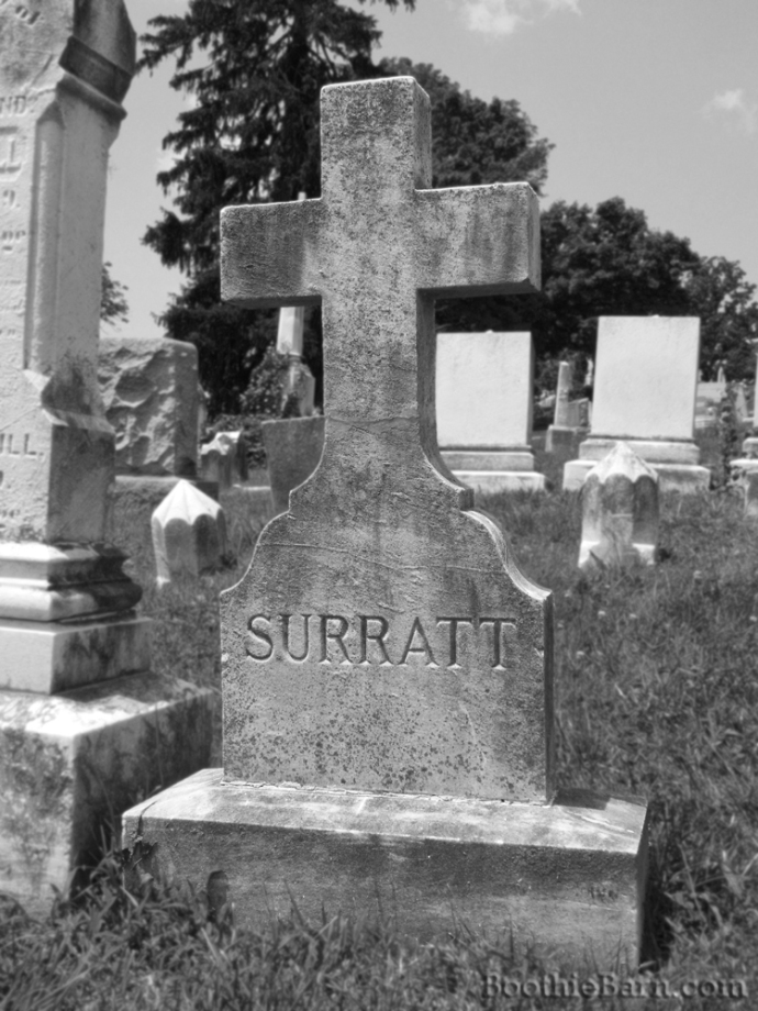 Surratt B&W Grave