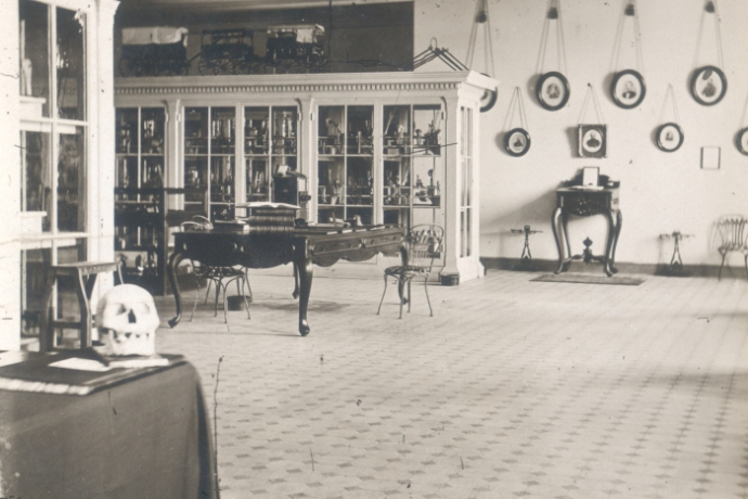 A view of the Army Medical Museum when it was housed on the third floor of the former Ford's Theatre. Courtesy of The National Museum of Health and Medicine.