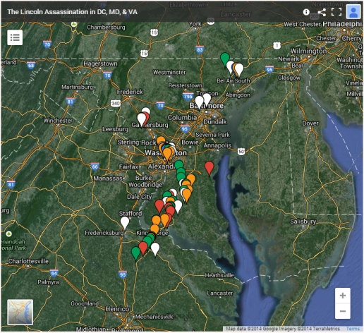 DC, MD, VA Assassination map thumb