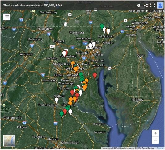 DC, MD, VA Assassination map thumb