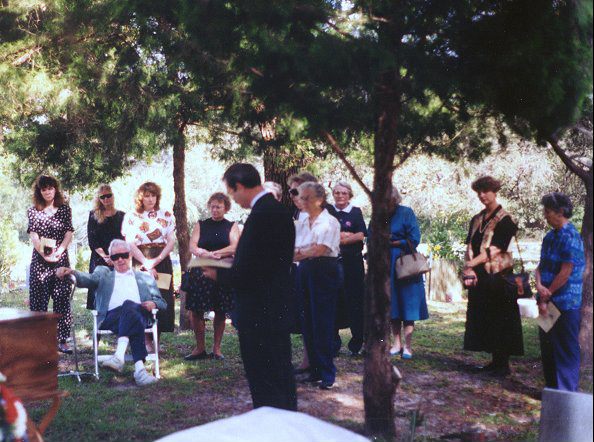 Reverend Parmenter Preaching Lew's Funeral 1994 Ownsbey