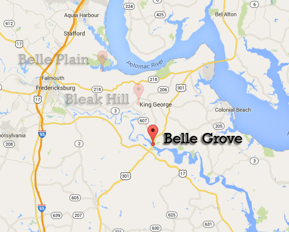 Belle Grove map