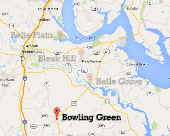 Bowling Green map