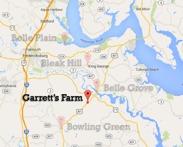 Garrett's farm map