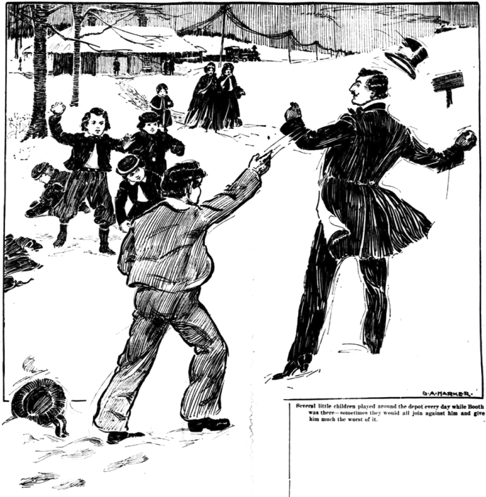 Snowbound John Wilkes Booth The Republic 8-4-1901