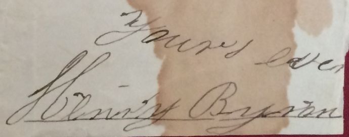 Henry Byron's signature 10-26-1834