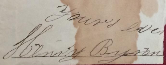 Henry Byron's signature 10-26-1834